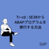 【SAP】Tr-cd:SE38からABAPプログラムを実行する方法を解説