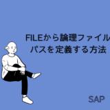 【SAP】Tr-cd:FILEから論理ファイルパスを定義する方法を解説【basis】