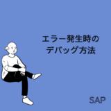 【SAP】エラー発生時のデバッグ(DEBUG)方法について解説【ABAP】