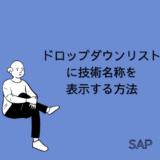 【SAP】ドロップダウンリストに技術名称を表示する方法【Tips】